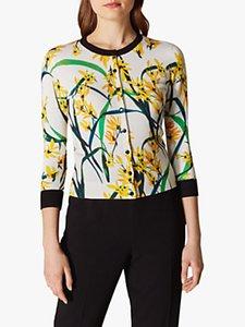 Read more about Karen millen floral contrast trim cardigan multi