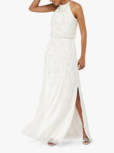 Read more about Monsoon augusta embellished maxi bridal dress ivory