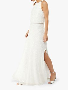 Read more about Monsoon diana embellished bridal maxi dress ivory