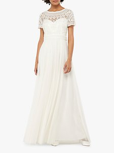 Read more about Monsoon beatrice embellished bridal maxi dress ivory
