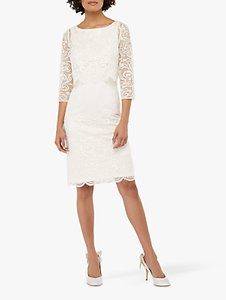 Read more about Monsoon camilla embellished short pencil bridal dress ivory