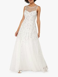 Read more about Monsoon victoria embellished bridal maxi dress ivory