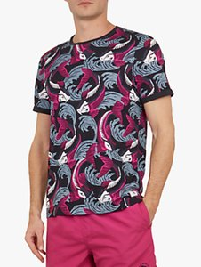Read more about Ted baker bretlo fish print t-shirt navy blue