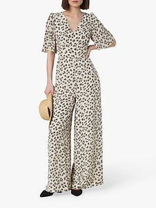 Read more about L k bennett diana wide leg floral jumpsuit green white