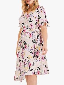 Read more about Studio 8 calie floral print asymmetric midi dress pink multi