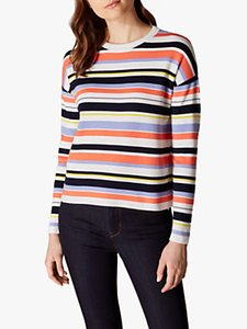 Read more about Karen millen striped round neck jumper multi