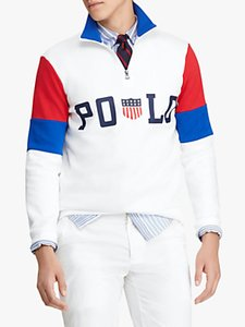 Read more about Polo ralph lauren half zip double knit pullover white multi