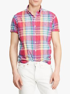 Read more about Polo ralph lauren classic fit madras shirt red multi