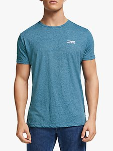 Read more about Tommy jeans modern jaspe crew neck t-shirt saxony blue