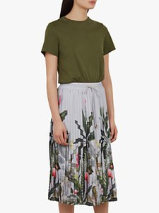 Read more about Ted baker bobbyn pleated dress khaki multi