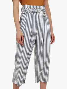 Read more about Ted baker colour by numbers delyn stripe wide leg trousers bright blue