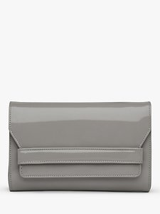 Read more about L k bennett ella leather clutch bag grey