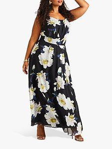 Read more about Yumi curves floral maxi dress black multi