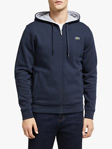 Read more about Lacoste classic zip through hoodie navy