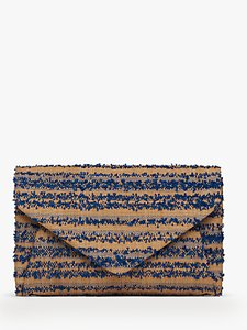 Read more about L k bennett lorna raffia envelope clutch bag