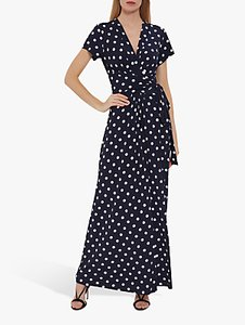 Read more about Gina bacconi luciana spot print maxi dress navy ivory