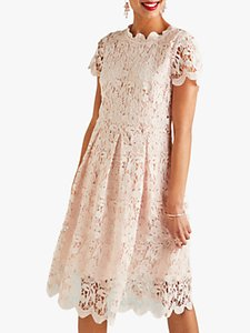 Read more about Yumi lace midi prom dress light pink