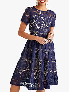 Read more about Yumi lace overlay party dress navy