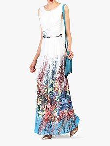 Read more about Jolie moi printed chiffon maxi dress white multi