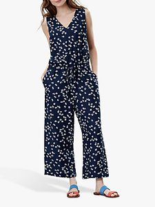 Read more about Joules angela floral print wide leg jumpsuit navy ditsy
