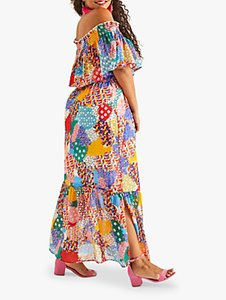 Read more about Yumi curves patchwork heart maxi dress multi