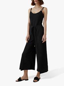 Read more about Karen millen wide leg cropped jumpsuit black