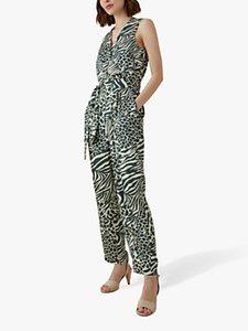 Read more about Karen millen contrast animal print jumpsuit green multi