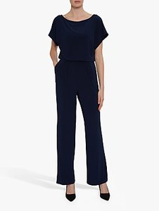 Read more about Gina bacconi parker wide leg jumpsuit navy