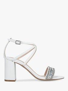 f5b689fc81f carvela groove pink embellished block heel sandals pale - Shop ...