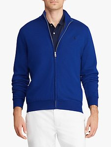 Read more about Polo golf by ralph lauren merino wool full zip jumper sporting royal