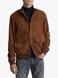 Read more about Polo ralph lauren suede skeet jacket country brown