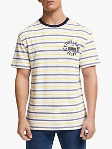 Read more about Tommy jeans chest logo stripe t-shirt classic white multi