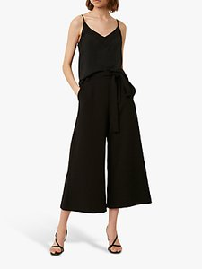 Read more about French connection whisper flare tie waist trousers black