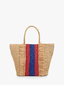 Read more about L k bennett leya raffia tote bag natural multi