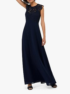 Read more about Monsoon morgane lace maxi dress navy