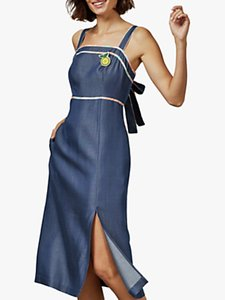 Read more about Ted baker picos side slit midi dress denim