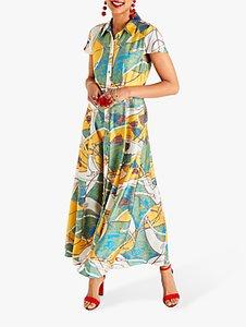 Read more about Yumi tassel print maxi dress multi