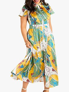 Read more about Yumi curves tassel print maxi dress multi