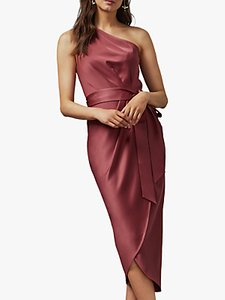 Read more about Ted baker gabie one shoulder drape midi dress pink