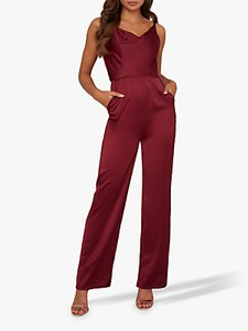 Read more about Chi chi london thalia wide leg jumpsuit burgundy