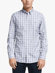 Read more about Tommy hilfiger long sleeve slim fit check shirt carbon navy white