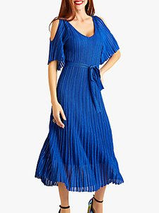Read more about Yumi cold shoulder midi dress blue