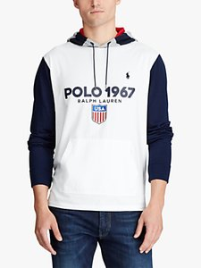 Read more about Polo ralph lauren usa 1967 hoodie white multi