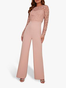 Read more about Chi chi london arloa lace bodice jumpsuit mink