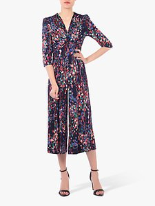 Read more about Jolie moi printed twist front jumpsuit navy multi