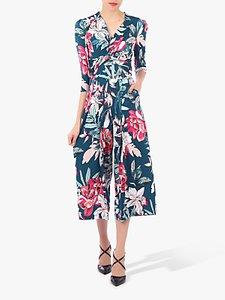Read more about Jolie moi printed twist front jumpsuit floral multi