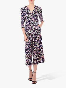 Read more about Jolie moi printed twist front jumpsuit abstract multi