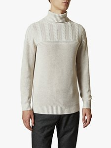 Read more about Ted baker rolly chunky cable knit roll neck jumper