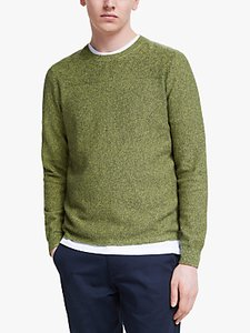 Read more about It s all good folk organic cotton textured panel crew knit jumper
