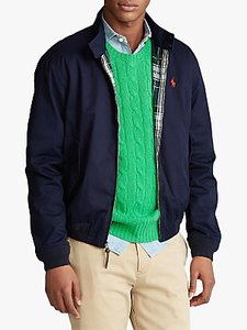 Read more about Polo ralph lauren barracuda cotton twill lined jacket aviator navy
